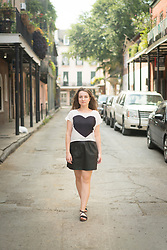 March 8, 2016 - Woman walking in street, French Quarter, New Orleans, Louisiana, USA (Credit Image: © Raphye Alexius/Image Source via ZUMA Press)
