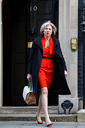 © licensed to London News Pictures. London, UK 18/03/2015. Home Secretary Theresa May attending to a cabinet meeting in Downing Street on the Budget Day, Wednesday, 18 March 2015. Photo credit: Tolga Akmen/LNP