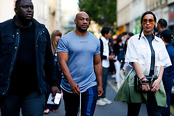 Street style, Kareem Biggs Burke arriving at Kenzo Spring-Summer 2019 menswear show held at Maison de la Mutualite, in Paris, France, on June 24th, 2018. Photo by Marie-Paola Bertrand-Hillion/ABACAPRESS.COM