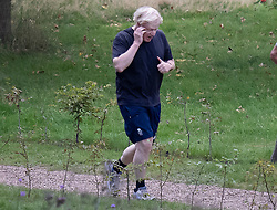 © Licensed to London News Pictures. 16/09/2020. London, UK. Prime Minister Boris Johnson goes for a morning jog in Westminster in central London.  Later Mr Johnson will face MP's questions in Parliament. Photo credit: Peter Macdiarmid/LNP