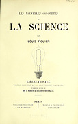 Title page From the Book Les merveilles de la science, ou Description populaire des inventions modernes [The Wonders of Science, or Popular Description of Modern Inventions] by Figuier, Louis, 1819-1894 Published in Paris 1867