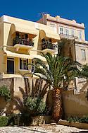 Narrow streets & houses of Ermoupolis,  Syros Island [ ????? ] , Greek Cyclades Islands