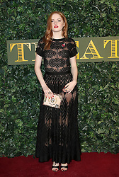 © Licensed to London News Pictures. 13/11/2016. London, UK, Ellie Bamber, Evening Standard Theatre Awards, Photo credit: Richard Goldschmidt/LNP