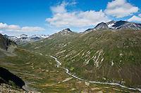 Memurudalen and Muru river, Jotunheimen national park, Norway