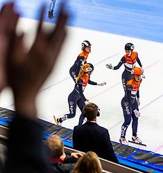 12-01-2019 NED: ISU European Short Track Championships 2019 day 2, Dordrecht<br /> Rianne de Vries #124 NED, Yara van Kerkhof #12 NED, Suzanne Schulting #24 NED