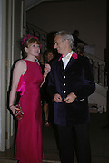 Joint chairmen of the Ball. Alastair Wilson-Gough and Menna Bowen. Connaught Square Squirrel Hunt Inaugural Hunt Ball. Banqueting House, Whitehall. 8 September 2005. ONE TIME USE ONLY - DO NOT ARCHIVE  © Copyright Photograph by Dafydd Jones 66 Stockwell Park Rd. London SW9 0DA Tel 020 7733 0108 www.dafjones.com