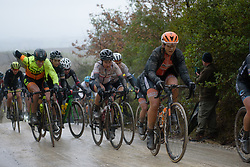 Eri Yonamine at Strade Bianche - Elite Women 2018 - a 136 km road race on March 3, 2018, starting and finishing in Siena, Italy. (Photo by Sean Robinson/Velofocus.com)