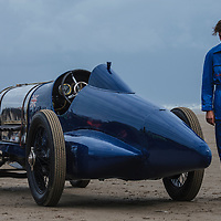 Sunbeam Blue Bird (1925) at Pendine Sands, 21 July 2015, for the commemoration of the 90th anniversary of Sir Malcolm Campbells new world landspeed record where he achieved 150miles/hr in his 350hp Sunbeam Blue Bird