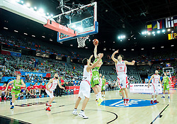 Alen Omic of Slovenia during basketball match between Slovenia and Georgia at Day 2 in Group C of FIBA Europe Eurobasket 2015, on September 6, 2015, in Arena Zagreb, Croatia. Photo by Vid Ponikvar / Sportida