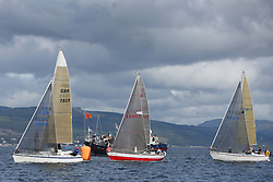 Peelport Clydeport Largs Regatta Week 2013 <br /> <br /> Class 3, First by Farr, Excalibur and Zebedee<br /> <br /> Largs Sailing Club, Largs Yacht Haven, Scottish Sailing Institute