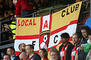 AFC Bournemouth banner in the stands. Premier league match, Watford v AFC Bournemouth at Vicarage Road in Watford, London on Saturday 1st October 2016.<br /> pic by John Patrick Fletcher, Andrew Orchard sports photography.