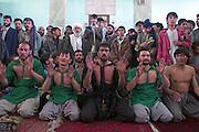 Hazara's of the Shia muslim sect celebrate during a festival in Kabul.