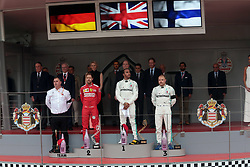 May 26, 2019 - Monte Carlo, Monaco - xa9; Photo4 / LaPresse.26/05/2019 Monte Carlo, Monaco.Sport .Grand Prix Formula One Monaco 2019.In the pic:  podium:.1st position Lewis Hamilton (GBR) Mercedes AMG F1 W10 .2nd position Sebastian Vettel (GER) Scuderia Ferrari SF90 .3rd position Valtteri Bottas (FIN) Mercedes AMG F1 W10 (Credit Image: © Photo4/Lapresse via ZUMA Press)