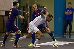 November 22, 2017 - Pescara, PE, Italy - Sofian El Adel of 't Knooppunt compete for the ball during the Elite Round of UEFA Futsal Cup 17/18 match between FC Barcelona and ZVV 'T Knoppount at Giovanni Paolo II arena on November 22, 2017 in Pescara, Italy. (Credit Image: © Danilo Di Giovanni/NurPhoto via ZUMA Press)