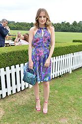 Rosie Fortescue at the Laureus King Power Cup polo match held at Ham Polo Club, Richmond, London England. 22 June 2017.<br /> Photo by Dominic O'Neill/SilverHub 0203 174 1069 sales@silverhubmedia.com