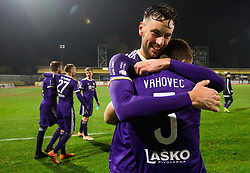 Amir Dervisevic of NK Maribor and Blaz Vrhovec of NK Maribor celebrate after winning during football match between NK Domzale and NK Maribior in 18th Round of Prva liga Telekom Slovenije 2018/19, on November 11, 2018 in Sportni Park, Domzale, Slovenia. Photo by Vid Ponikvar / Sportida