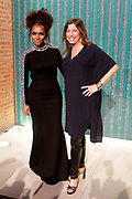 """April 3, 2017- Brooklyn, New York -United States: (L-R)  Author/Transgender Activist Janet Mock and Anne Pasternak, Director, The Brooklyn Museum attends the The Seventh Annual Brooklyn Artists Ball honoring Alicia Keys and Kasseem """"Swiss Beatz"""" Dean held at the Brooklyn Museum on April 3, 2017 in Brooklyn, New York. The Brooklyn Artist Ball is the largest annual fundraising gala at the Brooklyn Museum, which celebrates Brooklyn's creative community and supports the institution's many programs. (Terrence Jennings/terrencejennings.com)"""