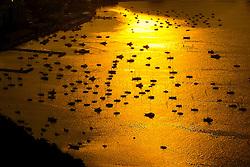Barcos na enseada de Botafogo, na entrada da Baía da Guanabara. FOTO: Marcelo Campos/Preview.com