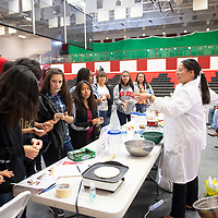 Grants High School students learn about the science behind making bread Wednesday, Nov. 20 at NTU in Crownpoint during STEM Day. Over 100 local high school students attended STEM Day at NTU.