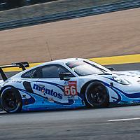 #56, Porsche 911 RSR, Team Project 1, drivers: Matteo Cairoli, Egidio Perfetti, Larry ten Voorde, LM GTE Am, at the Le Mans 24H, 2020, Hyerpole on 19.9.20