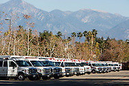 Shooting in San Bernardino.<br /> Rows of ambulances near the Inland Regional Center after the mass shooting.
