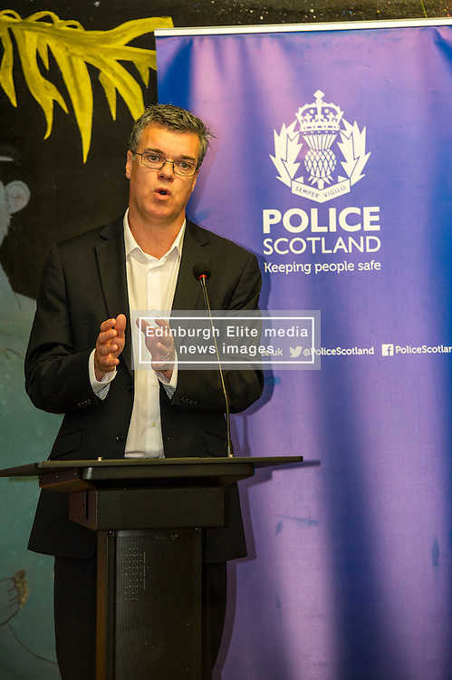 Pictured: Scottish Prison Service chief executive Colin McConnell<br /> A new booklet was created by a group of prisoners after a Meet the Police event revealed many prisoners' children thought the police had taken their parent from them. The leaflet was launched by Mark McDonald, MSP, Minister for Childcare and Early Years at Saughton Prison, Edinburgh. The minister was joined by Scottish Prison Service chief executive Colin McConnell, PC  Tracey Gunn, Prison Link Officer Police Scotland, Nicola Ceesay, HMP Edinburgh Visitot Centre  Richard Thomas, Superintendent Police Scotland and other senior police officers<br /> <br /> <br /> Ger Harley   EEm 22 August 2016