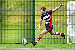 Nathan Chamberlain of Bristol Academy U18 kicks at goal - Mandatory by-line: Craig Thomas/JMP - 03/02/2018 - RUGBY - SGS Wise Campus - Bristol, England - Bristol U18 v Harlequins U18 - Premiership U18 League