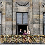 NLD/Amsterdam/20130430 - Inhuldiging Koning Willem - Alexander, balkonscene