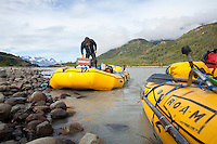 """White water raft trip down the Tashenshini River. The """"Tat"""" flows out of Yukon, CA, through British Columbia and empties into Glacier Bay National Park in Alaska, US."""