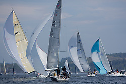 Sailing - SCOTLAND  - 26th May 2018<br /> <br /> DAY 2 Racing the Scottish Series 2018, organised by the  Clyde Cruising Club, with racing on Loch Fyne from 25th-28th May 2018<br /> <br /> SWE18325, Wild Haggis, Ewan and Jackie Mackay, Loch Lomond SC, Farr 30<br /> <br /> Credit : Marc Turner<br /> <br /> Event is supported by Helly Hansen, Luddon, Silvers Marine, Tunnocks, Hempel and Argyll & Bute Council along with Bowmore, The Botanist and The Botanist