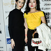 Designer Chanel Joan Elkayam herself and Kisin-K at The British luxury Womenswear designer, Chanel Joan Elkayam, showcases her Autumn - Winter 2020 show ahead of London Fashion Week on 13 February 2020 at Cecil Sharp House, London, UK.