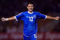 El SAlvador - El Salvador - June 06, 2009.<br /> 2010 FIFA World Cup CONCACAF qualifying Soccer match between EL SALVADOR and MEXICO.<br /> Here El Salvador player  MANUEL SALAZAR  celebrating.<br /> © PikoPress