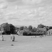 Avebury Village Neolithic Stones - Avebury, UK - Infrared Black & White