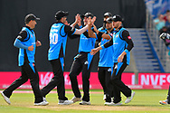 Wicket - Ed Barnard of Worcestershire celebrtates running out Alex Davies of Lancashire during the Vitality T20 Finals Day Semi Final 2018 match between Worcestershire Rapids and Lancashire Lightning at Edgbaston, Birmingham, United Kingdom on 15 September 2018.