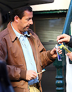March 7, 2016 - New York City, NY, USA - Actor Adam Sandler was on the set of the new movie 'The Meyerowitz Stories' on March 7 2016 in New York City  <br /> ©Exclusivepix Media