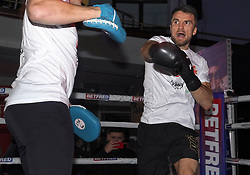 Anthony Fowler (right) during a public workout at the Grand Central Hall, Liverpool. Picture date: Wednesday October 6, 2021.