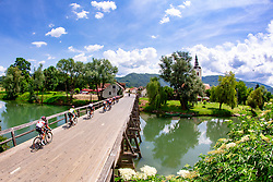 Peloton and Kostanjevica na Krki during 3rd Stage of 27th Tour of Slovenia 2021 cycling race between Brezice and Krsko (165,8 km), on June 11, 2021 in Slovenia. Photo by Matic Klansek Velej / Sportida