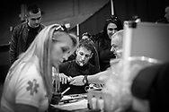 Ultimate bare-Knuckle boxing competition at Manchester's Bowlers Exhibition Centre, Old Trafford, Manchester, UK.<br /> Photo shows fitness and drug-testing taking place before the event.<br /> Photo ©Steve Forrest/Workers' Photo