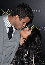 Kris Humphries and Kim Kardashian attend the Kardashian Kollection for Sears launch party held at The Colony in Hollywood, CA.