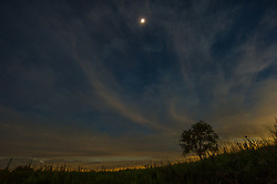 August 21, 2017 - Grand Island, Nebraska, U.S - Farm yard scene during the totality phase of the Solar Eclipse near Grand Island, Nebraska. (Credit Image: © Steven Branscombe via ZUMA Wire)
