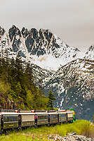 The White Pass & Yukon Route Railroad, a narrow gauge railroad between Skagway, Alaska USA and Whitehorse, Yukon.