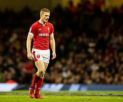Johnny McNicholl of Wales<br /> <br /> Photographer Simon King/Replay Images<br /> <br /> Six Nations Round 1 - Wales v Italy - Saturday 1st February 2020 - Principality Stadium - Cardiff<br /> <br /> World Copyright © Replay Images . All rights reserved. info@replayimages.co.uk - http://replayimages.co.uk