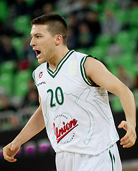 Jan Mocnik of Union Olimpija during basketball match between KK Union Olimpija and Unics Kazan (RUS) of 10th Round in Group D of Regular season of Euroleague 2011/2012 on December 21, 2011, in Arena Stozice, Ljubljana, Slovenia. Unics Kazan defeated Union Olimpija 76-63. (Photo by Vid Ponikvar / Sportida)