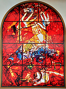 The Tribe of Judah. The Twelve Tribes of Israel depicted in stained glass By Marc Chagall (1887 - 1985). The Twelve Tribes are Reuben, Simeon, Levi, Judah, Issachar, Zebulun, Dan, Gad, Naphtali, Asher, Joseph, and Benjamin.