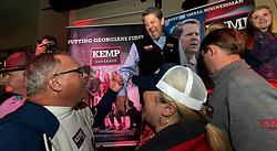 November 03, 2018 - Norcross, Georgia, U.S. - Georgia's Secretary of State and Republican candidate for governor, BRIAN KEMP, campaigns at Mojito's Cuban American Bistro.(Credit Image: © Brian Cahn/ZUMA Wire)