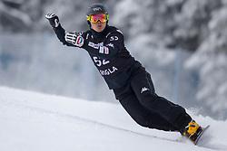 Seok-Jin Shin (KOR) during Final Run at Parallel Giant Slalom at FIS Snowboard World Cup Rogla 2019, on January 19, 2019 at Course Jasa, Rogla, Slovenia. Photo byJurij Vodusek / Sportida