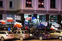 Bialystok, 23.01.2020. Pikieta przed Sadem Okregowym w obronie niezawislosci polskich sedziow pod haslem KNEBLOWANIE SADOW = ROZWOD Z EUROPA zorganizowana przez podlaski KOD. Dzialania te maja zwrocic uwage opinii publicznej na dzialania Ministerstwa Sprawiedliwosci szykanujace niektorych sedziow za wydane przez nich orzeczenia oraz wypowiedzi fot Michal Kosc / AGENCJA WSCHOD
