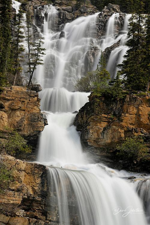 Tangle Creek Waterfall, Jasper National Park, Alberta, Canada