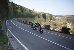 The break rolls down to Houffalize during Liege-Bastogne-Liege - a 136 km road race, between Bastogne and Ans on April 22, 2018, in Wallonia, Belgium. (Photo by Balint Hamvas/Velofocus.com)