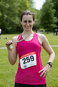 NO FEE PICTURES<br /> 19/5/18 Hundreds of people of all ages lapped up the summer sunshine when they came out to support an important cause which is close to many of their hearts, organ donation, by taking part in the Irish Kidney Association's 'Run for a Life' family fun run which took place at Corkagh Park, Clondalkin, Dublin 22 on Saturday 19th May.   (www.runforalife.ie) Pictured Lisa Burke, winner 5k, ardee. Picture:Arthur Carron